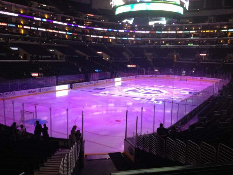 Seating view for Staples Center Section 114 Row 20 Seat 33
