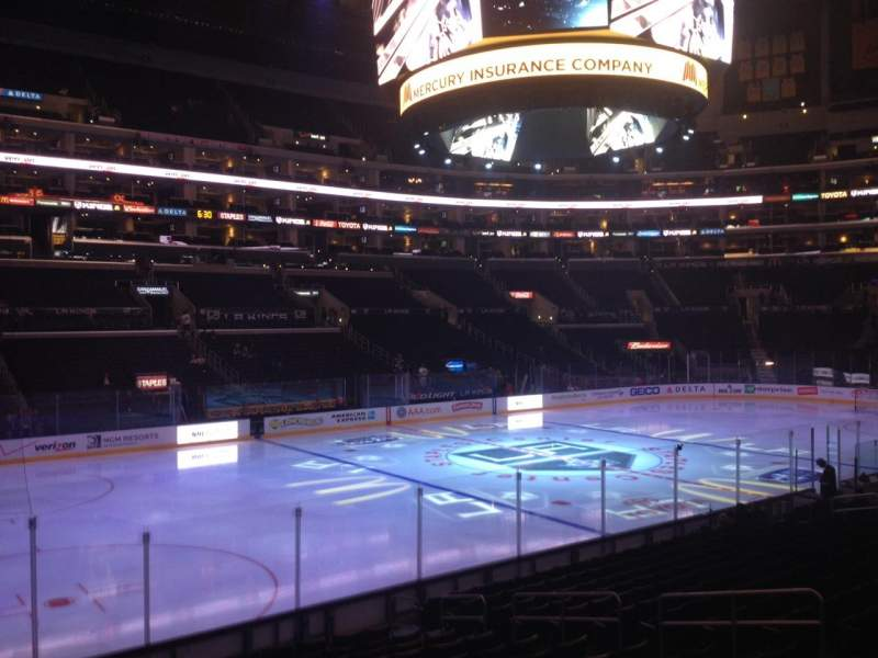 Seating view for Staples Center Section 113 Row 17 Seat 14