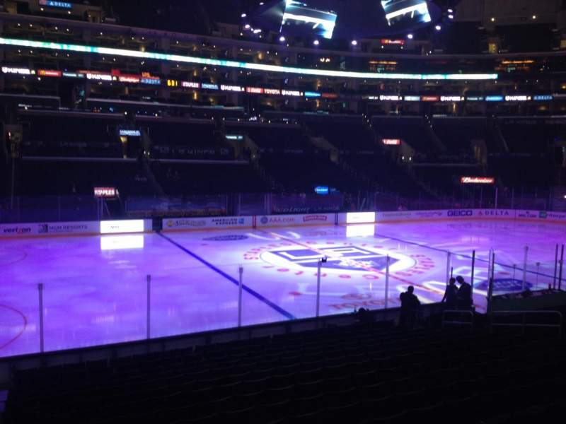 Seating view for Staples Center Section 112 Row 17 Seat 2