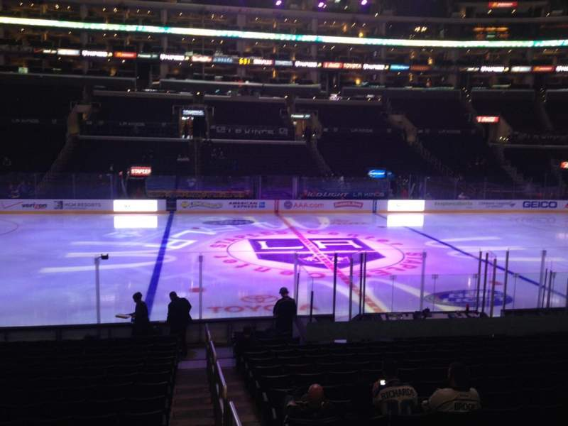 Seating view for Staples Center Section 112 Row 17 Seat 1