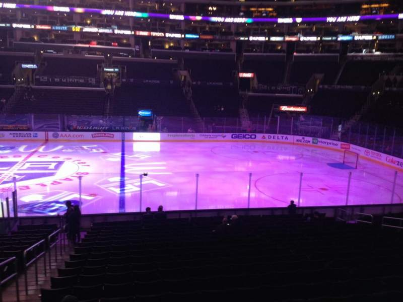 Seating view for Staples Center Section 110 Row 20 Seat 19