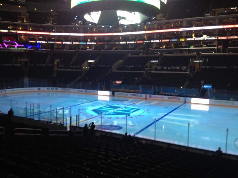 Seating view for Staples Center Section 110 Row 20 Seat 1