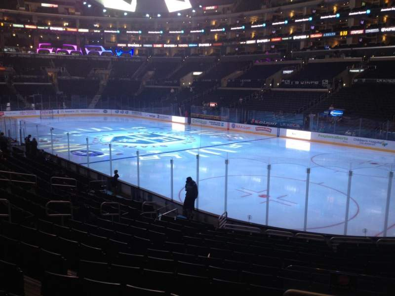 Seating view for Staples Center Section 108 Row 17 Seat 17