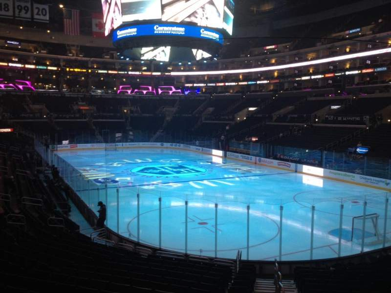 Seating view for Staples Center Section 108 Row 19 Seat 1