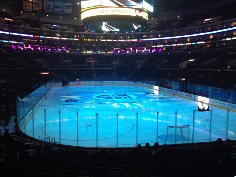 Seating view for Staples Center Section 107 Row 17 Seat 17
