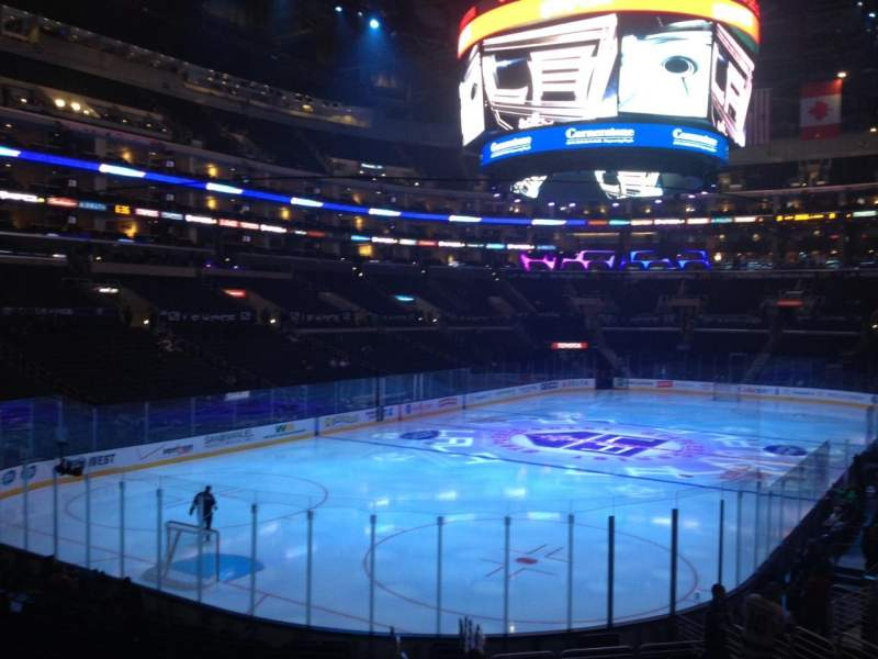 Seating view for Staples Center Section 106 Row 20 Seat 1