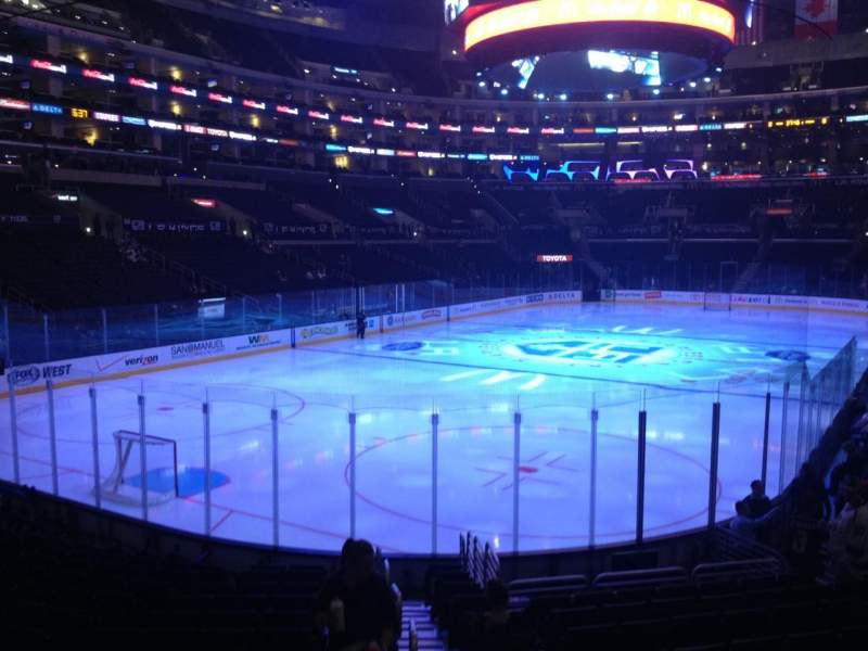 Seating view for Staples Center Section 106 Row 16 Seat 1
