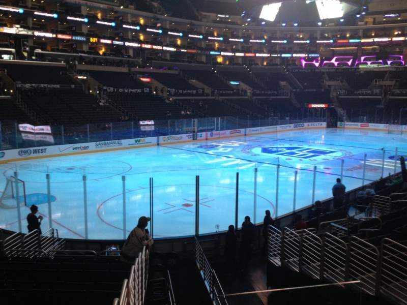 Seating view for Staples Center Section 105 Row 17 Seat 1