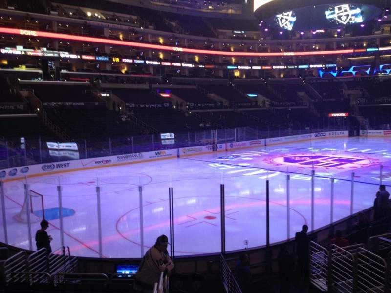 Seating view for Staples Center Section 105 Row 15 Seat 1