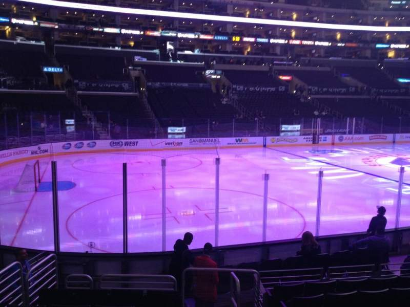 Seating view for Staples Center Section 104 Row 12 Seat 1