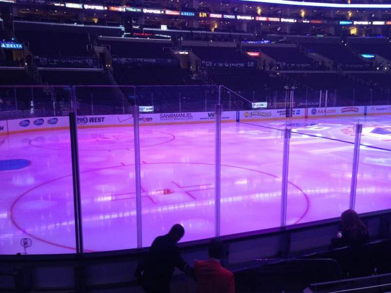 Seating view for Staples Center Section 104 Row 8 Seat 1