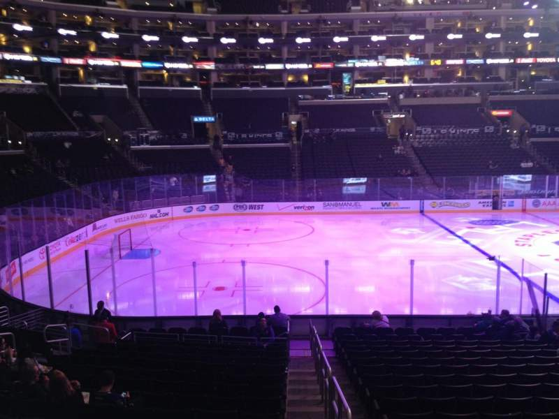 Seating view for Staples Center Section 104 Row 5 Seat 1