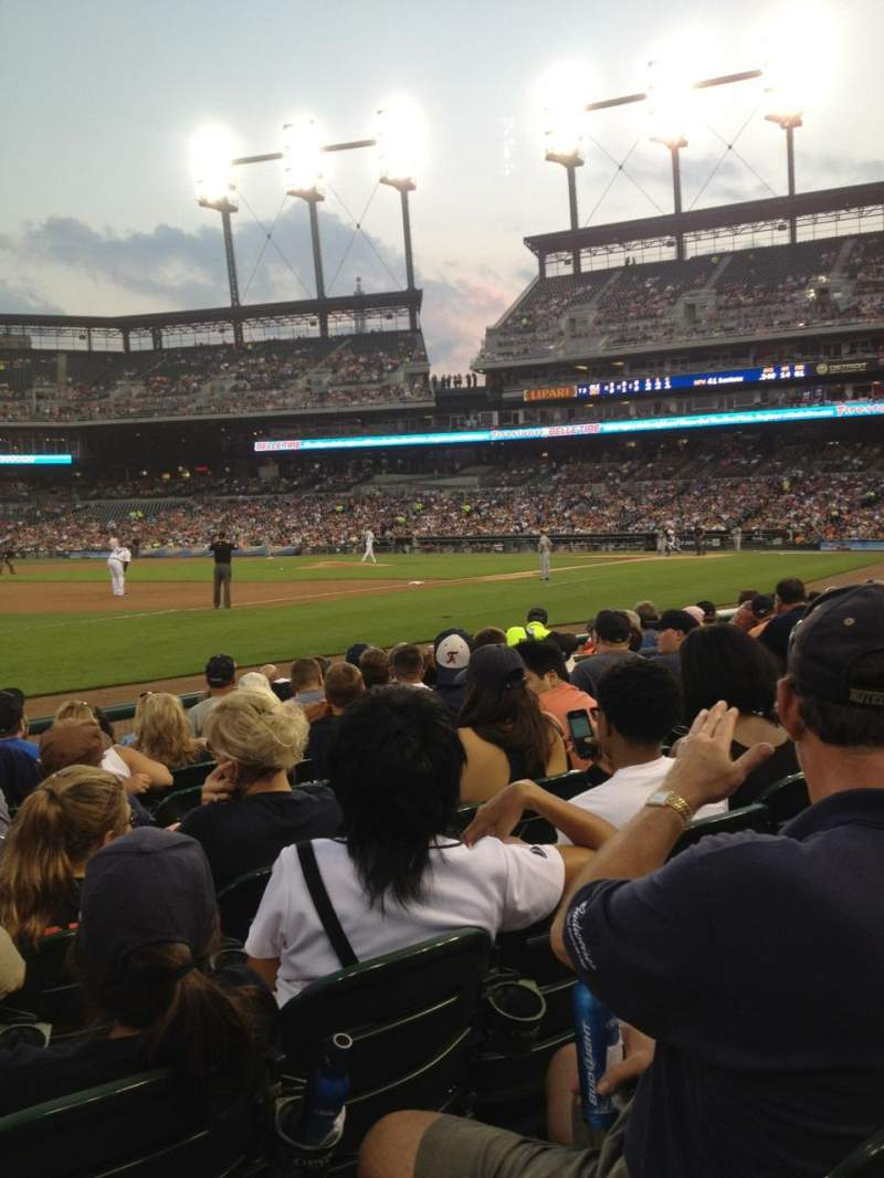 Seating view for Comerica Park Section 138 Row 10 Seat 13