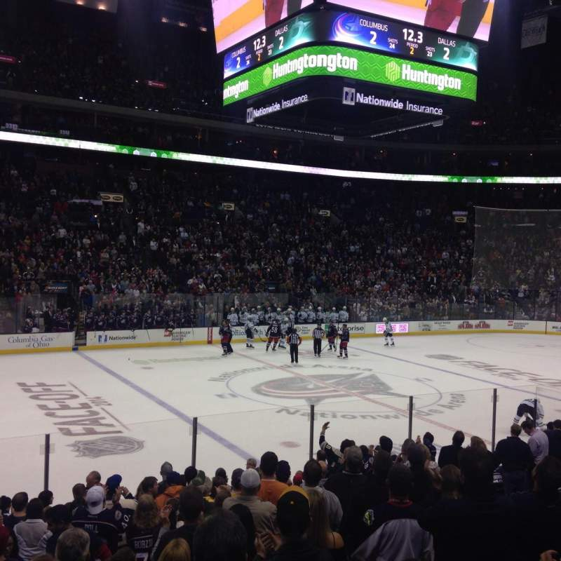 Seating view for Nationwide Arena Section 116 Row P Seat 12