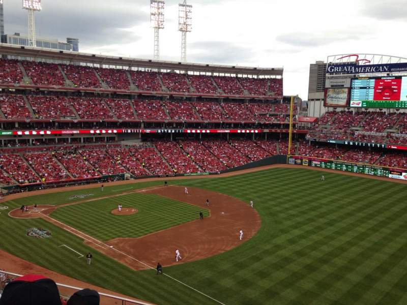 Seating view for Great American Ball Park Section 435 Row C Seat 15
