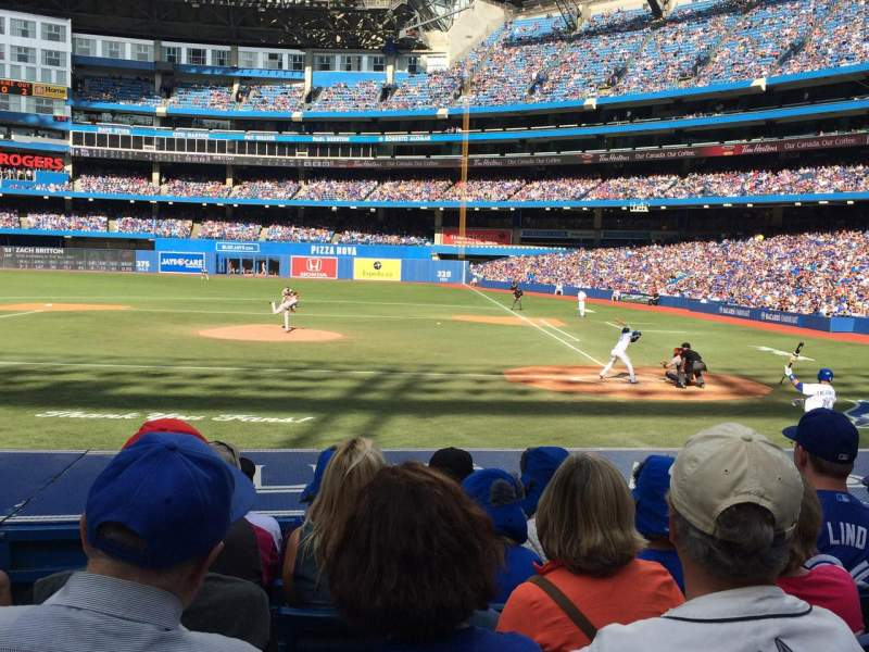 Seating view for Rogers Centre Section 125R Row 15 Seat 3