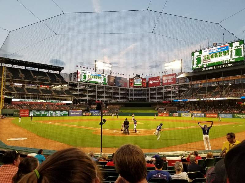 Globe Life Park in Arlington, section: 25, row: 7, seat: 15
