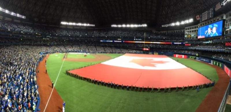 Seating view for Rogers Centre Section 209L Row 1 Seat 101