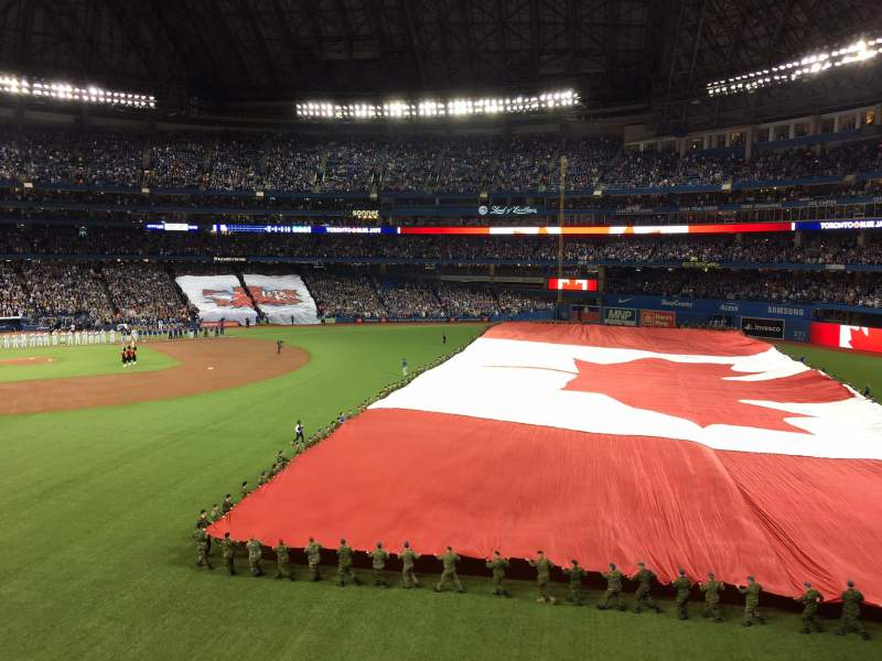 Seating view for Rogers Centre Section 209L Row 1 Seat 102