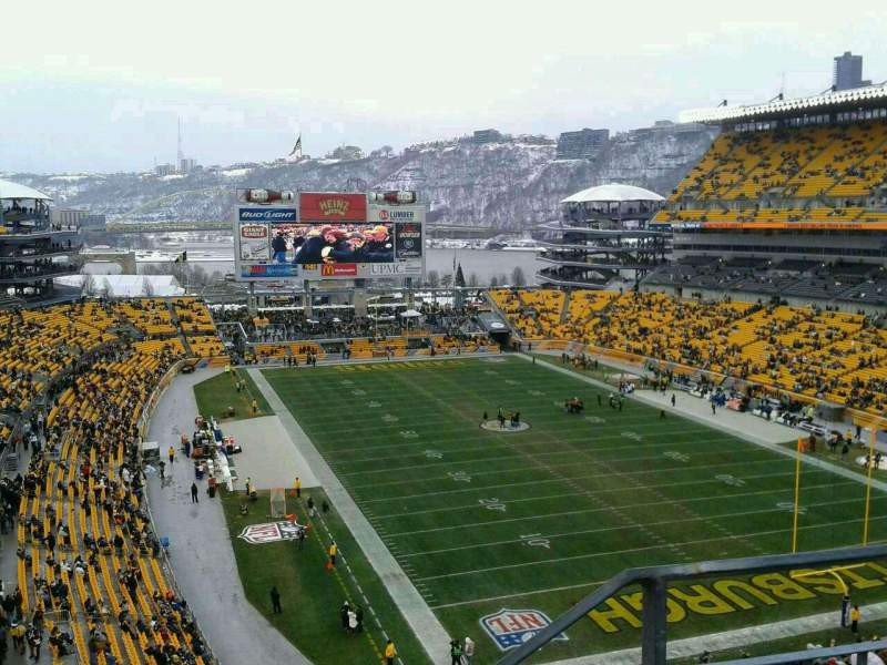Seating view for Heinz Field Section 519 Row E Seat 1