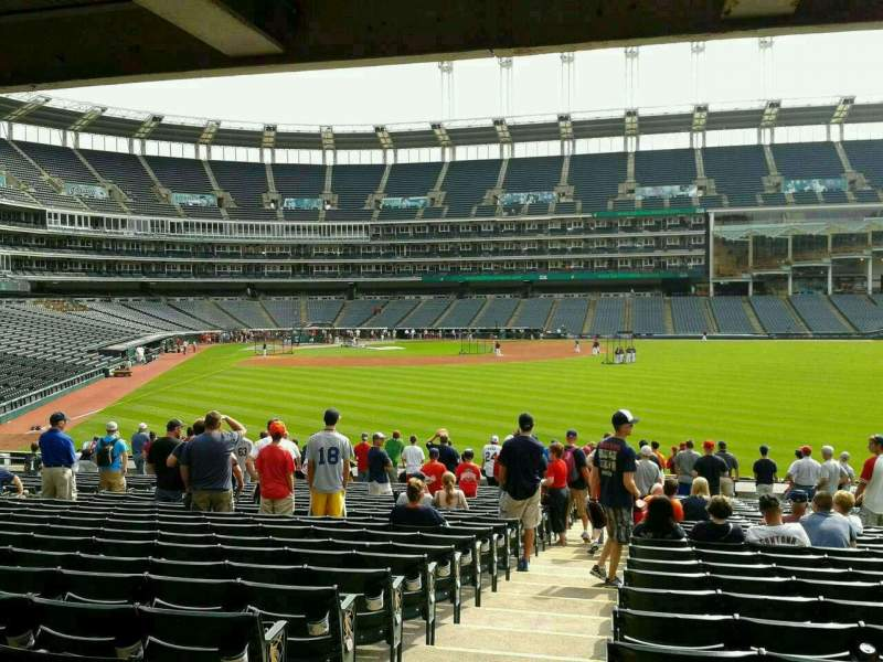 Seating view for Progressive Field Section 109 Row KK Seat 24