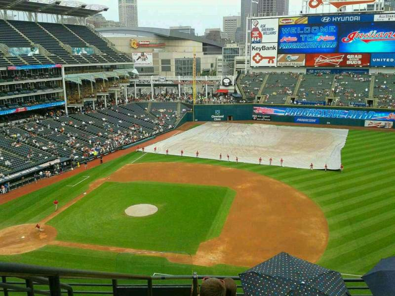 Seating view for Progressive Field Section 440 Row E Seat 8