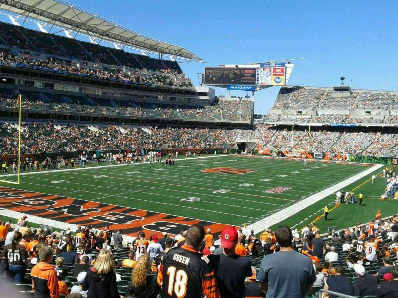 Seating view for Paul Brown Stadium Section 150