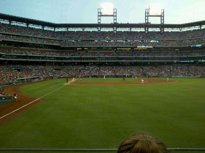Seating view for Citizens Bank Park Section 106 Row 2 Seat 4