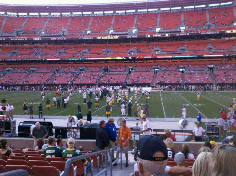 Seating view for FirstEnergy Stadium Section 110