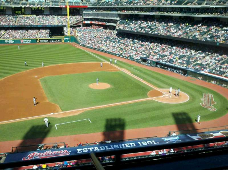 Seating view for Progressive Field Section Suite 356