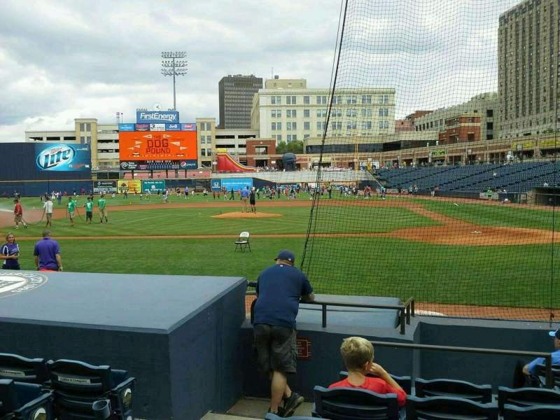 Seating view for Canal Park Section 106 Row I Seat 13