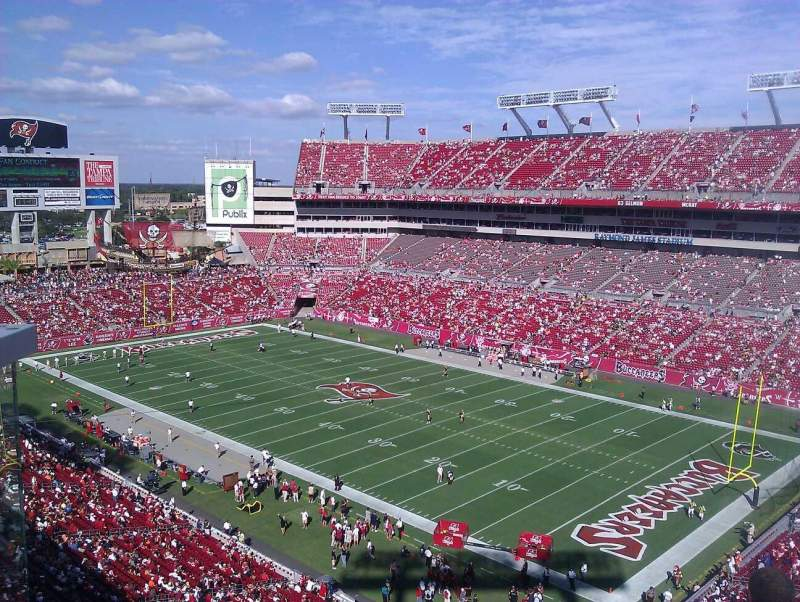 Seating view for Raymond James Stadium Section 318 Row A Seat 5