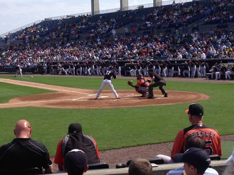 Seating view for George M. Steinbrenner Field Section 115 Row CC Seat 8