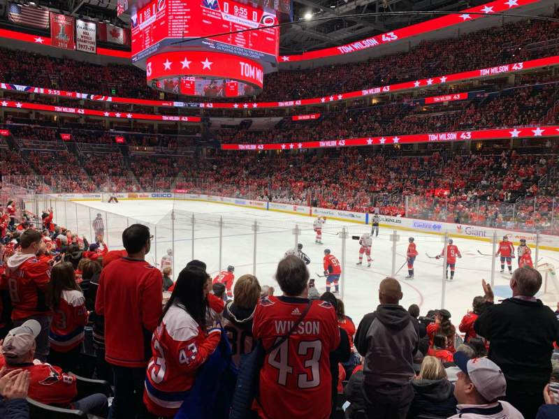 Seating view for Capital One Arena Section 114 Row M Seat 12