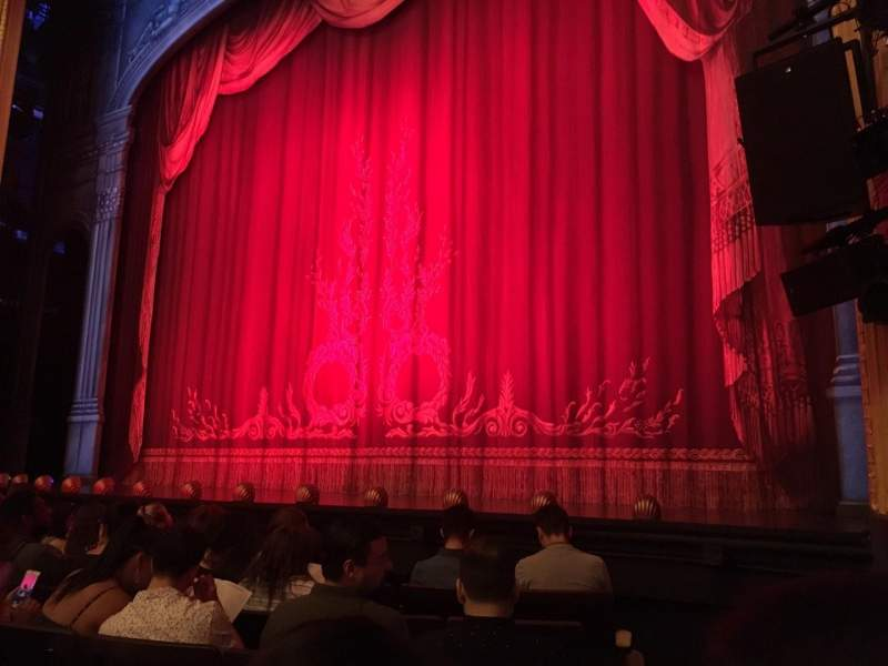 Hudson Theatre, section: Orchestra, row: F, seat: 121