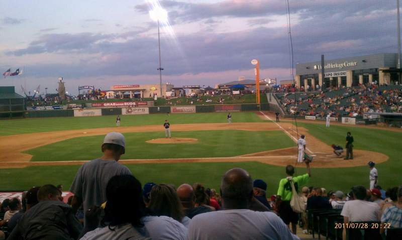 Seating view for Dell Diamond Section 117 Row 14 Seat 6
