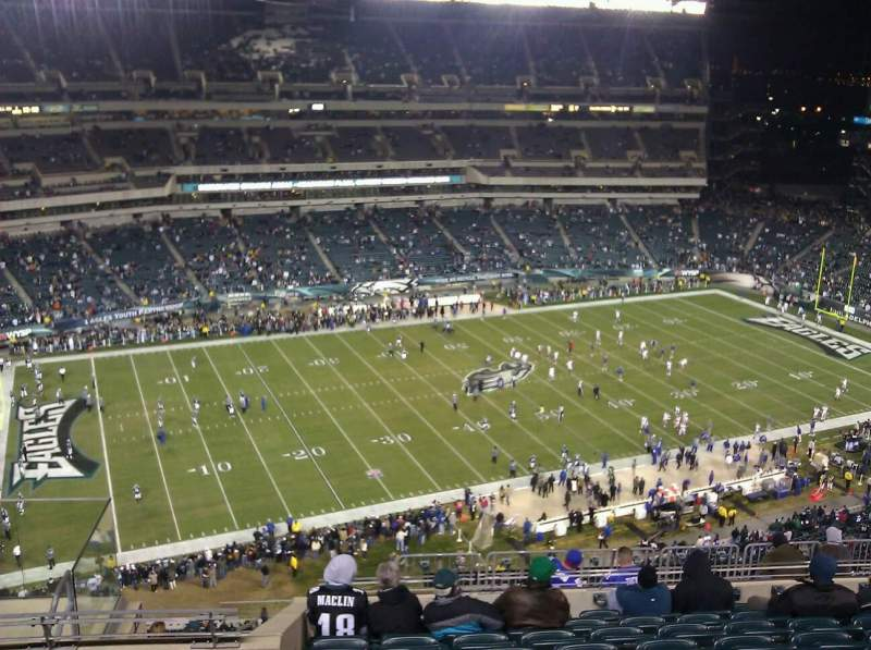 Seating view for Lincoln Financial Field Section 222 Row 14 Seat 9
