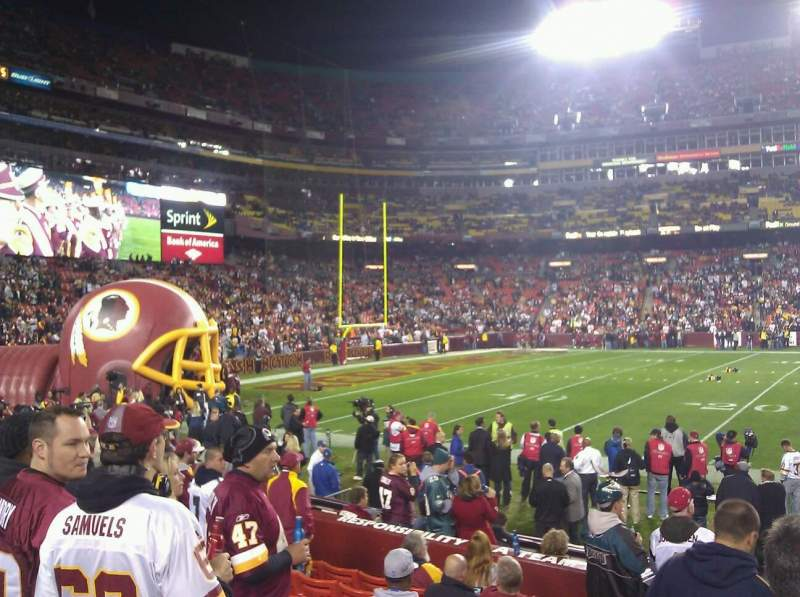 Seating view for FedEx Field Section 107 Row 6 Seat 2