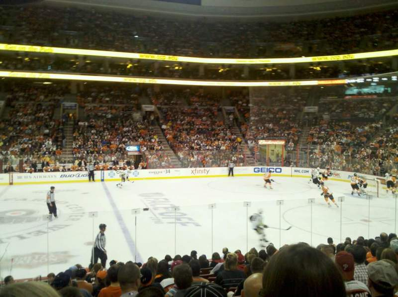 Seating view for Wells Fargo Center Section 114 Row 14 Seat 1