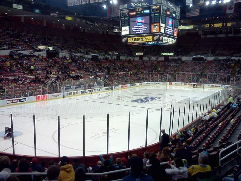 Seating view for Joe Louis Arena Section 112 Row 14 Seat 6