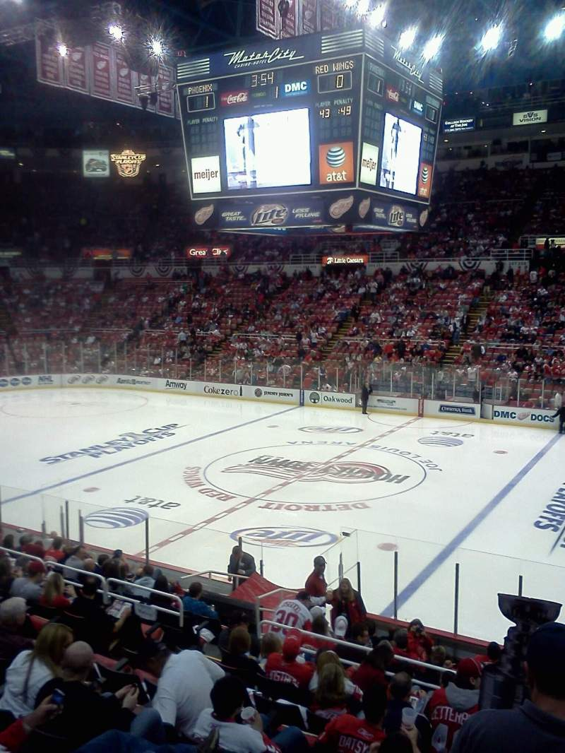 Seating view for Joe Louis Arena Section 119 Row 13 Seat 4