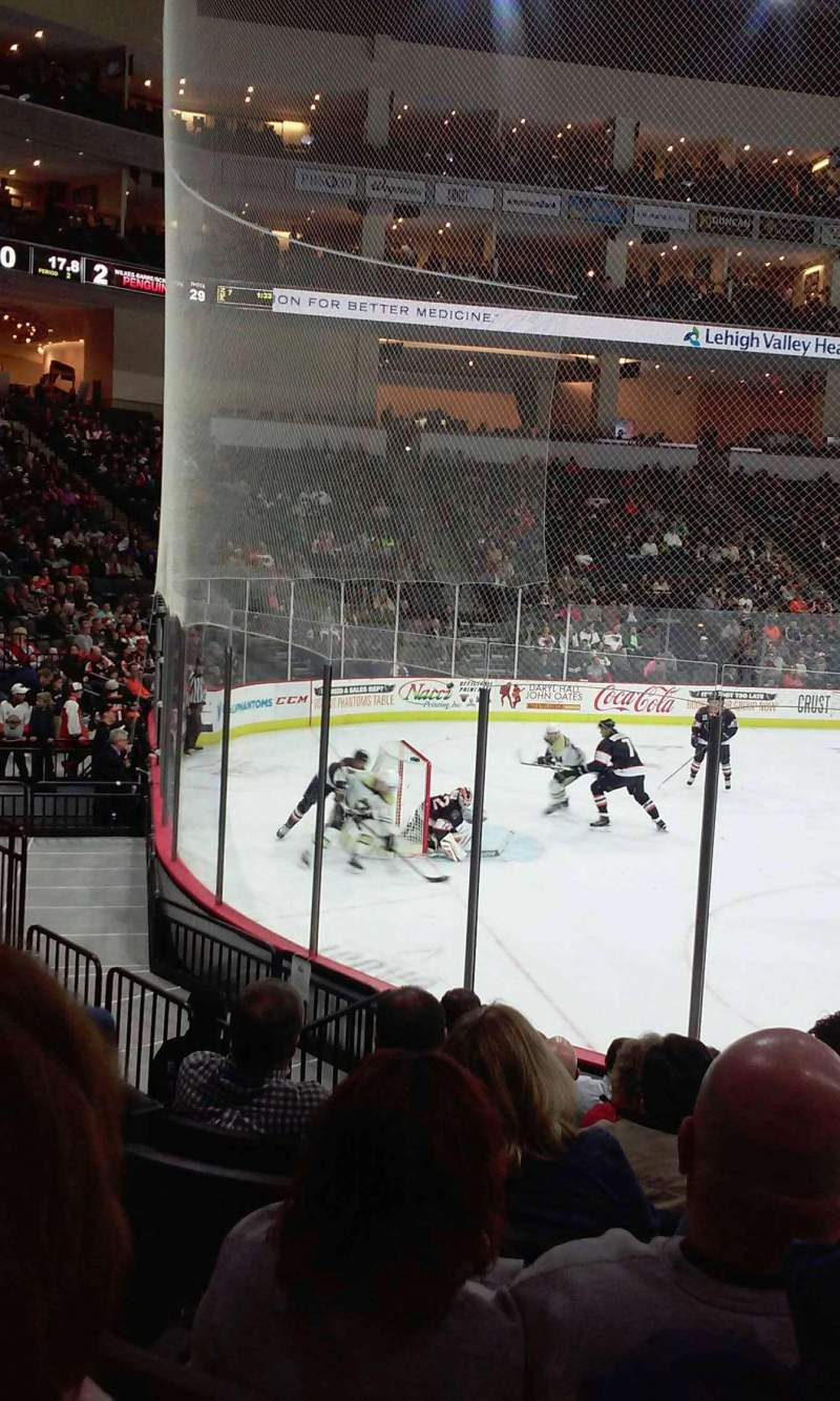 Seating view for PPL Center Section 108 Row 9 Seat 1