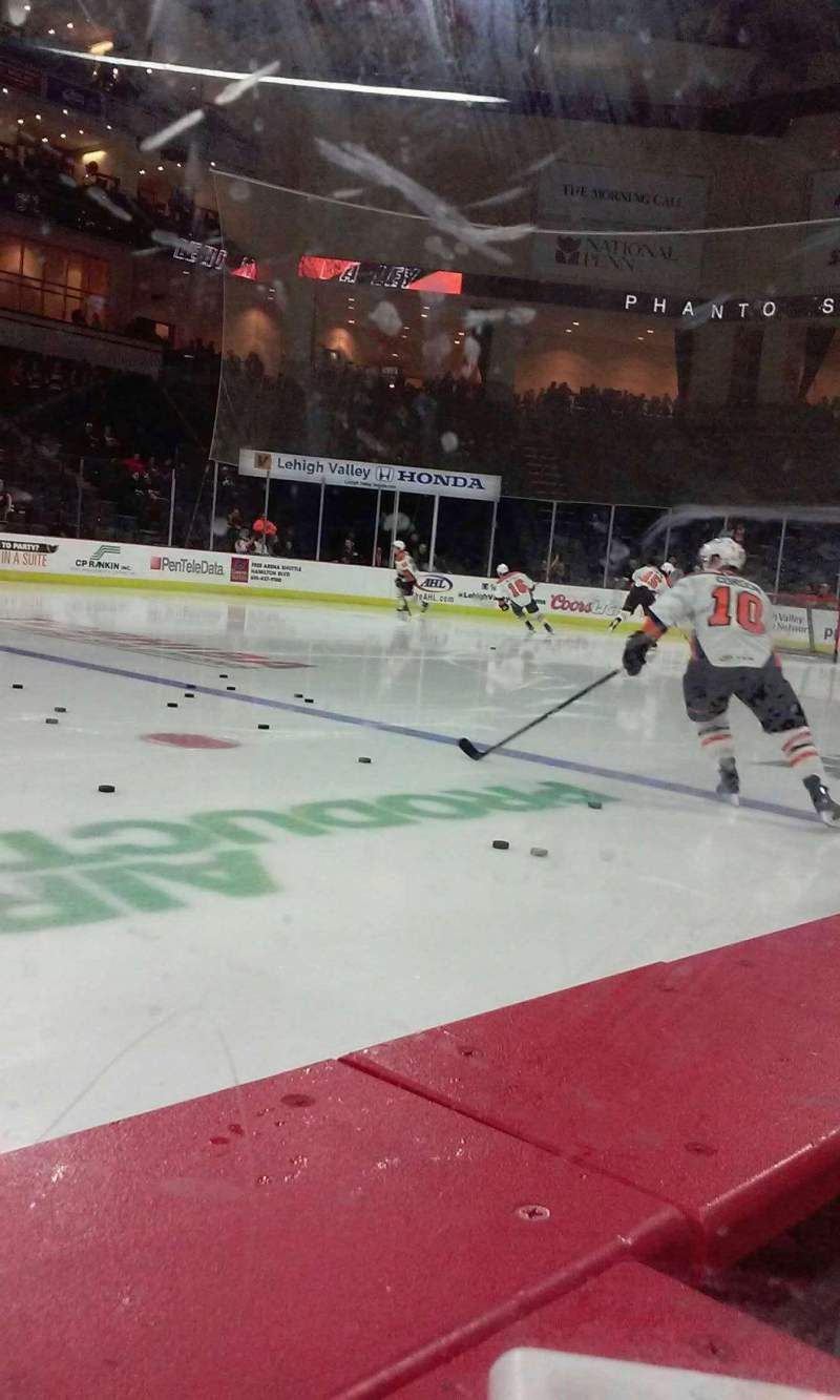 Seating view for PPL Center Section vip Row glass Seat 1