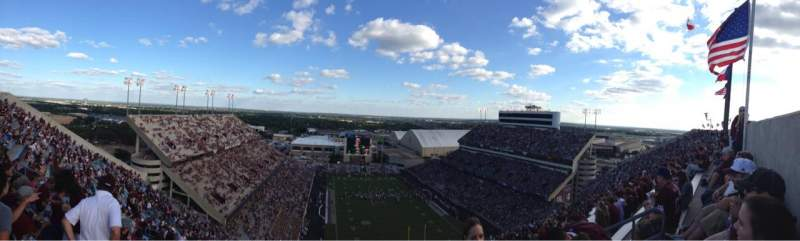 Seating view for Kyle Field Section 519 Row 36 Seat 6
