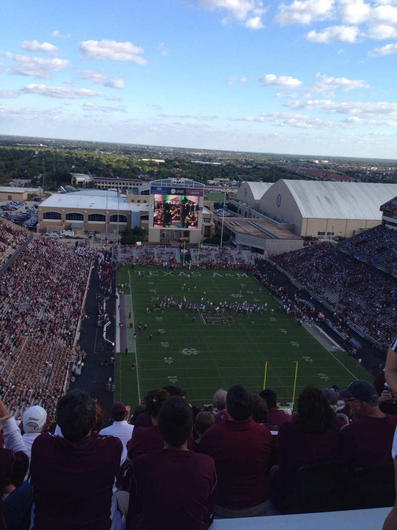 Seating view for Kyle Field Section 519 Row 38 Seat 12