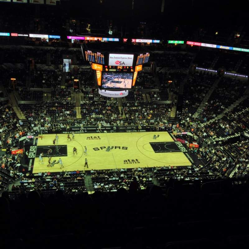 Seating view for AT&T Center Section 225 Row 19 Seat 3