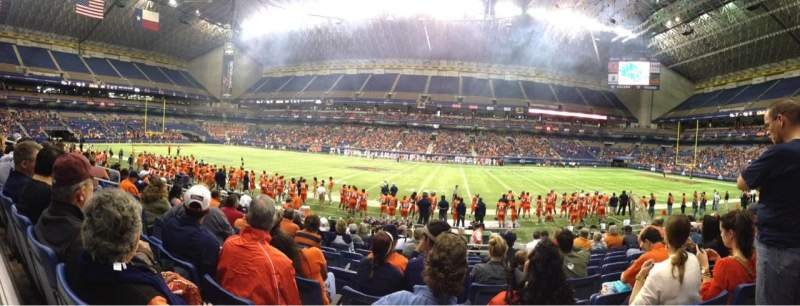 Seating view for Alamodome Section 111 Row 10 Seat 11