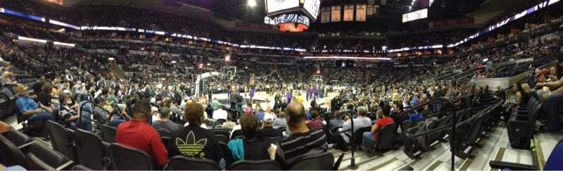 Seating view for AT&T Center Section 112 Row 13 Seat 4