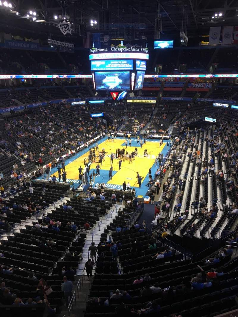 Seating view for Chesapeake Energy Arena Section 329 Row A