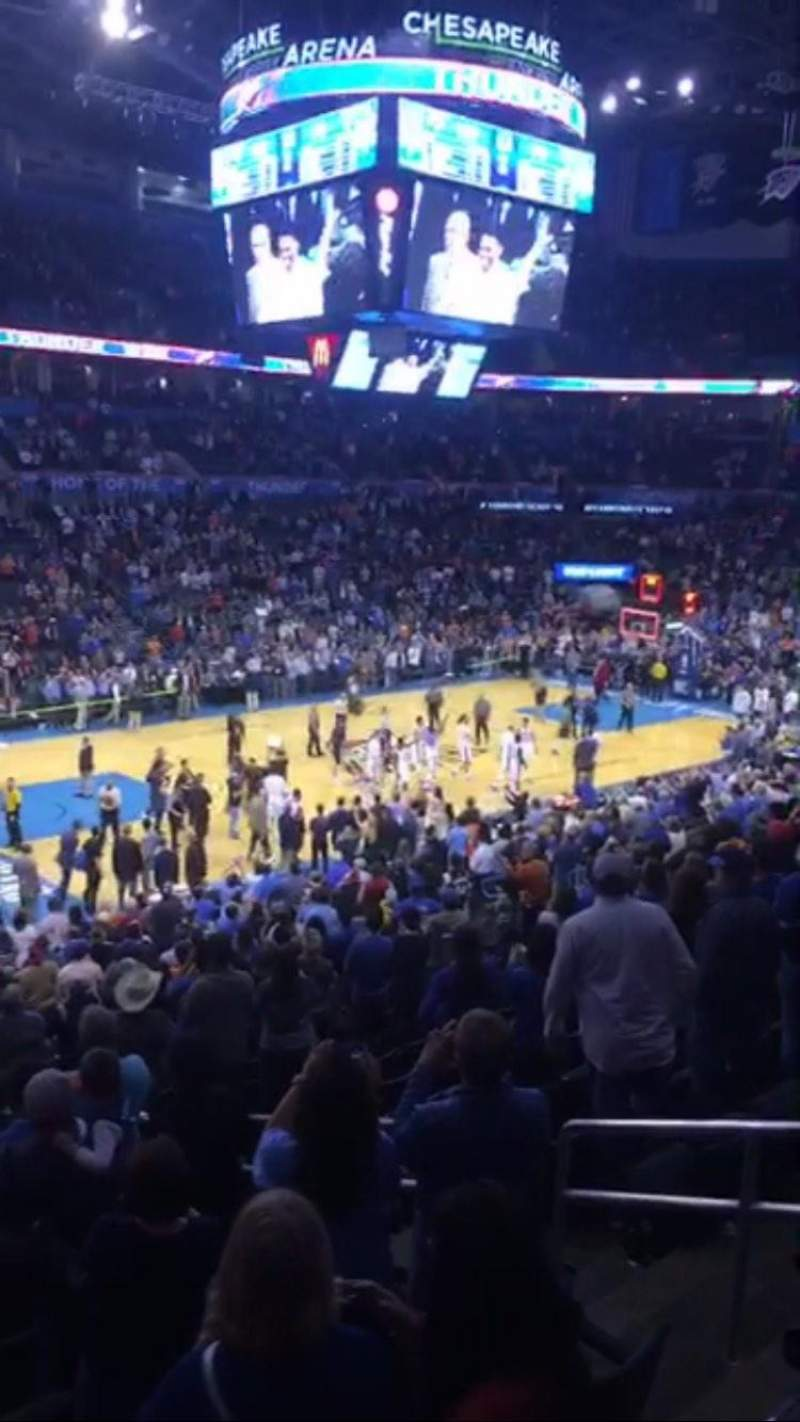 Seating view for Chesapeake Energy Arena Section 225 Row A Seat 17